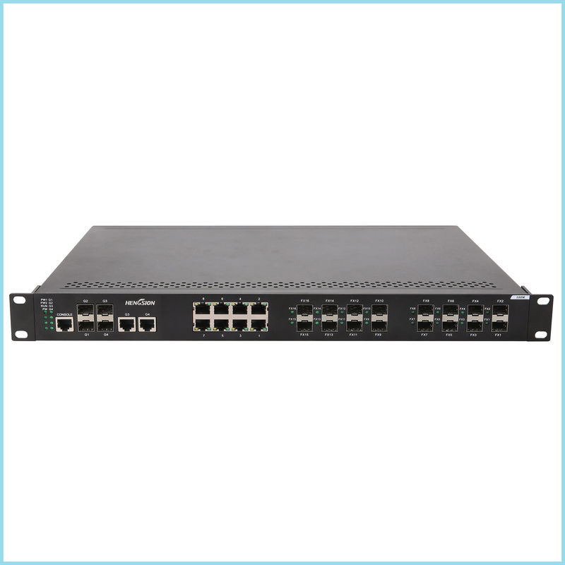 High speed full duplex 28 port Switch 3.25Kg Industrial network Switch for electric power control
