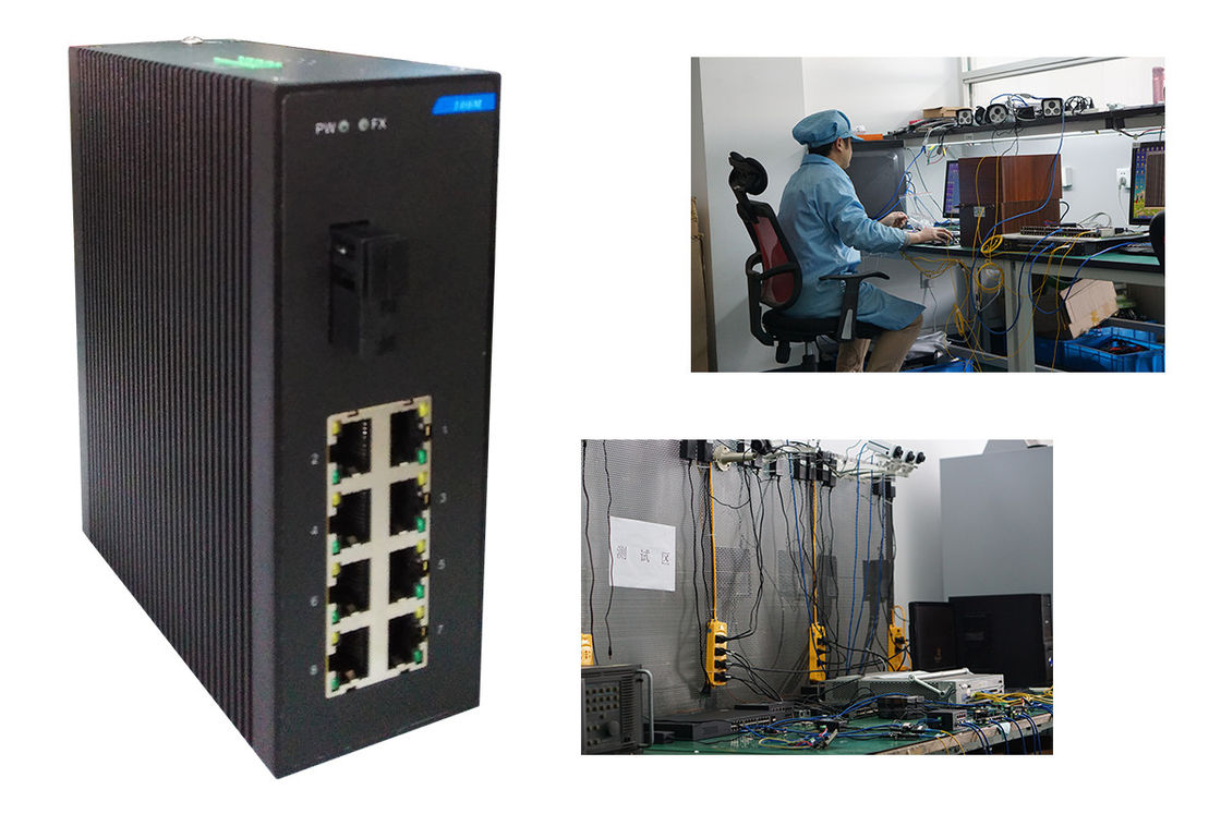 Stable Industrial Level 10 port Network Switch  8 + 1 port  fast Ethernet Switch 0.775Kg 802.3x