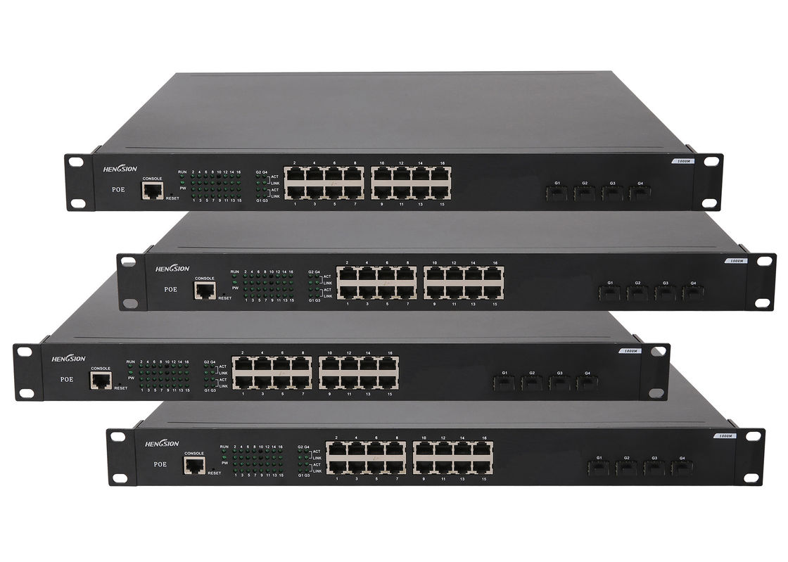 Gigabit POE Switch 802.1x authentication power over ethernet switch 16 port