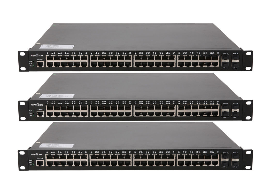 Core network switch 10 / 100 / 1000M auto - adaptive RJ45 port 4 1000 / 10000M fiebr optic 10gb ethernet switch