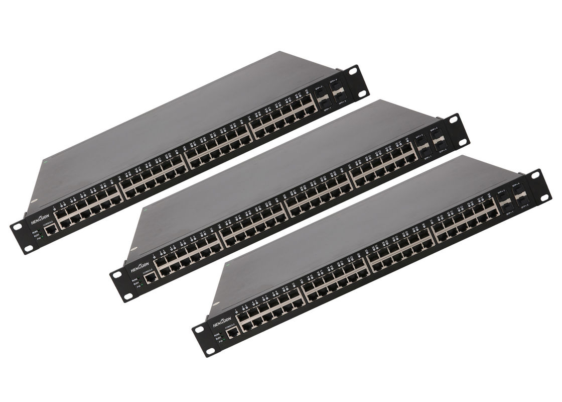 Full gigabit 48 port network switch 10 / 100 / 1000M , auto adaptive layer 2 gigabit switch