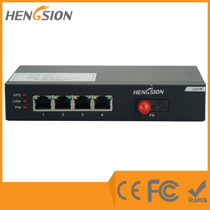 4 Port Megabit Rj45 Fast Enterprise Ethernet Switch Din Rail 12vdc