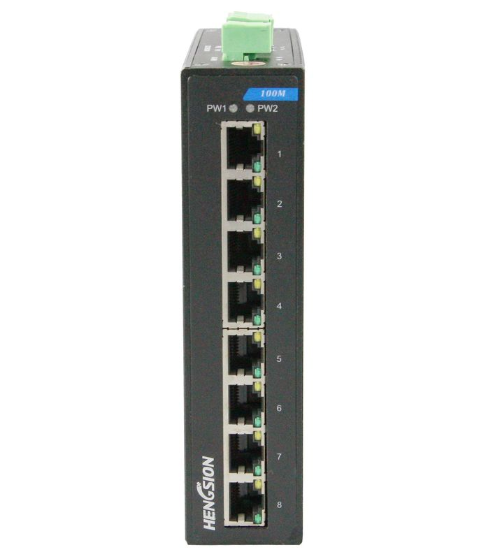 VLAN division RJ45 8 port switch , 1.6Gbps industrial unmanaged ethernet switch